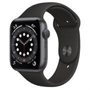 Часы Apple Watch 6 (Корпус из алюминия цвета «серый космос» - Спортивный ремешок)