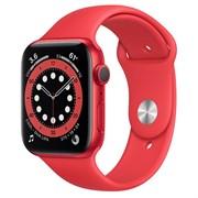 Часы Apple Watch 6 (Корпус из алюминия цвета (PRODUCT)RED - Спортивный ремешок)