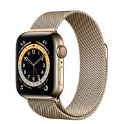 Часы Apple Watch 6 (Корпус из стали золотого цвета - Миланский золотой ремешок)
