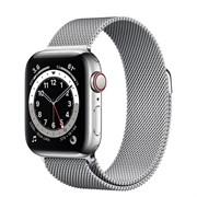 Часы Apple Watch 6 (Корпус из стали серебристого цвета - Миланский серебристый ремешок)