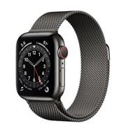 Часы Apple Watch 6 (Корпус из стали графитового цвета - Миланский графитовый ремешок)