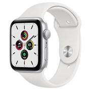 Часы Apple Watch SE (Корпус из алюминия серебристого цвета - Спортивный ремешок)