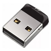 Флеш-накопитель USB  64GB  SanDisk  Cruzer Fit  чёрный
