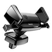 Автомобильный держатель Baseus Robot Air Vent Car Mount, черный (SUJXS-01)