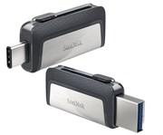 Флеш-накопитель USB  3.1  16GB  SanDisk  Dual Drive  (Type C + Type A)  OTG