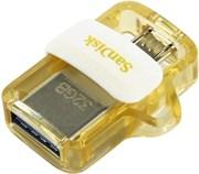Флеш-накопитель USB 3.0  32GB  SanDisk  Ultra Android Dual Drive  OTG  белый/золото