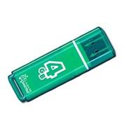 Флеш-накопитель USB  4GB  Smart Buy  Glossy  зелёный