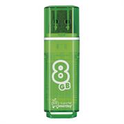 Флеш-накопитель USB  8GB  Smart Buy  Glossy  зелёный