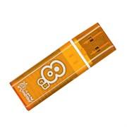 Флеш-накопитель USB  8GB  Smart Buy  Glossy  оранжевый