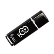 Флеш-накопитель USB  8GB  Smart Buy  Glossy  чёрный