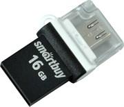 Флеш-накопитель USB  16GB  Smart Buy  Poko  OTG  чёрный