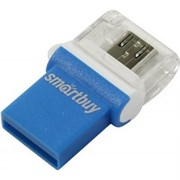 Флеш-накопитель USB  64GB  Smart Buy  Poko  OTG  синий
