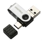 Флеш-накопитель USB 3.0  32GB  Smart Buy  Trio  3-in-1 (USB Type-A + USB Type-C + micro USB)