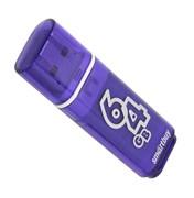 Флеш-накопитель USB 3.0  64GB  Smart Buy  Glossy  темно синий