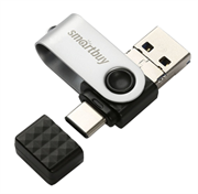 Флеш-накопитель USB 3.0  64GB  Smart Buy  Trio  3-in-1 (USB Type-A + USB Type-C + micro USB)