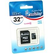 Карта памяти MicroSD  32GB  Smart Buy Сlass 10 без адаптера