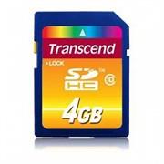 Карта памяти SDHC  4GB  Transcend Class 10
