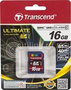 Карта памяти SDHC  16GB  Transcend Class 10 UHS-I (300х)