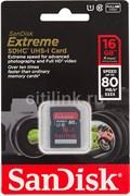 Карта памяти SDHC  16GB  SanDisk Class10 Extreme UHS-I (80 Mb/s)