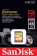 Карта памяти SDXC  128GB  Sandisk Class 10 Extreme (45 Mb/s)