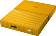 "Внешний жесткий диск HDD  WD  4 TB  My Passport жёлтый, 2.5"", USB 3.0"
