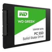 Твердотельный внутренний диск SSD  WD  120GB, SATA-III, R/W - 540/430 MB/s, (M.2), 2280, TLC, зелёный