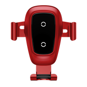 Автомобильный держатель с беспроводной зарядкой BaseusMetal Wireless Charger Gravity Car Mount (Air Outlet Version) (WXYL-B09)