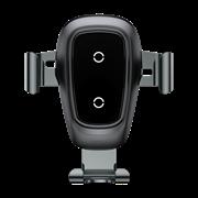 Автомобильный держатель с беспроводной зарядкой Baseus Metal Wireless Charger Gravity Car Mount (Air Outlet Version) (WXYL-B0A)